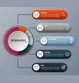 infographicfor diagram business with 5 options vector image vector image