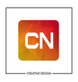 initial letter cn logo template design vector image vector image