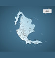 isometric 3d mexico map concept vector image