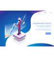 isometric augmented reality for finance analytics vector image vector image