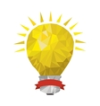 light bulb abstract geometric with label