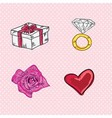 Love cute icons vector image