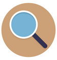 magnifying glass icon flat style vector image vector image