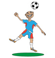 man plays football vector image