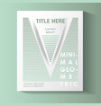minimal geometric template label vector image