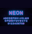 neon blue - red letters vector image