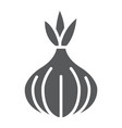onion glyph icon vegetable and diet vector image vector image
