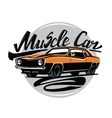 orange muscle car vector image
