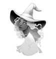 portrait a witch in gradients gray vector image
