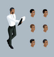 qualitative isometry businessman african american vector image vector image