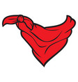 red bandana cowboy scarf vector image