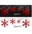 Red Snowflake social media cover for christmas vector image