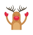 reindeer winter clothes icon vector image