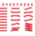 ribbon banners set vector image vector image