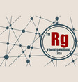 roentgenium chemical element vector image vector image