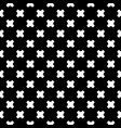 Seamless pattern white crosses on black