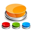 set of abstract glossy button vector image vector image