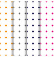 set of patterns with circles retro colors vector image