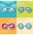 set retro glasses background concept vector image vector image