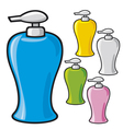 soap dispenser plastic pump vector image