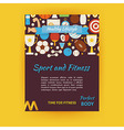 Sport and Fitness Template Banner Flyer Modern vector image