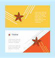 star fish abstract corporate business banner vector image