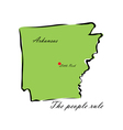 State of Arkansas vector image