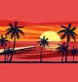 summer holiday season tropical exotic beach vector image vector image