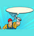 superhero builder professional comic bubble vector image