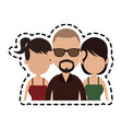 three people cartoon icon imag vector image vector image