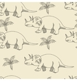 Triceratops seamless retro vector image vector image