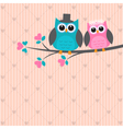 Two cute owls in love vector | Price: 1 Credit (USD $1)