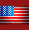 usa flag abstract polygon background vector image vector image