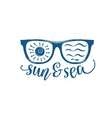 Vintage summer sunglasses with quote vector image vector image