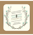 Wedding card with floral branch vector image
