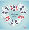 welcome to autumn composition vector image vector image