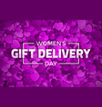 womens day gift delivery vector image vector image
