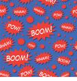 Comic Book Speech Bubbles Seamless Pattern vector image