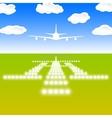 Landing lights vector image