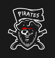 skull of captain of pirates vector image