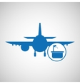travel concept service hotel silhouette blue vector image