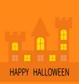 happy halloween haunted house shadow dark castle vector image