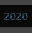 2020 broken blue numbers vector image vector image