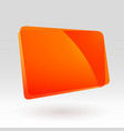 abstract template geometric icon orange glass vector image