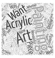 acrylic painting Word Cloud Concept vector image vector image
