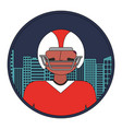 american football player with cityscape vector image vector image