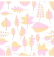 Autumn yellow and pink withered leaves seamless vector image