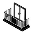 balcony with metal fencing icon simple style vector image vector image