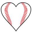 baseball heart design vector image