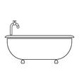 Bathtub vector image vector image